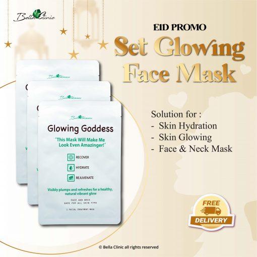 Set Glowing face mask-01