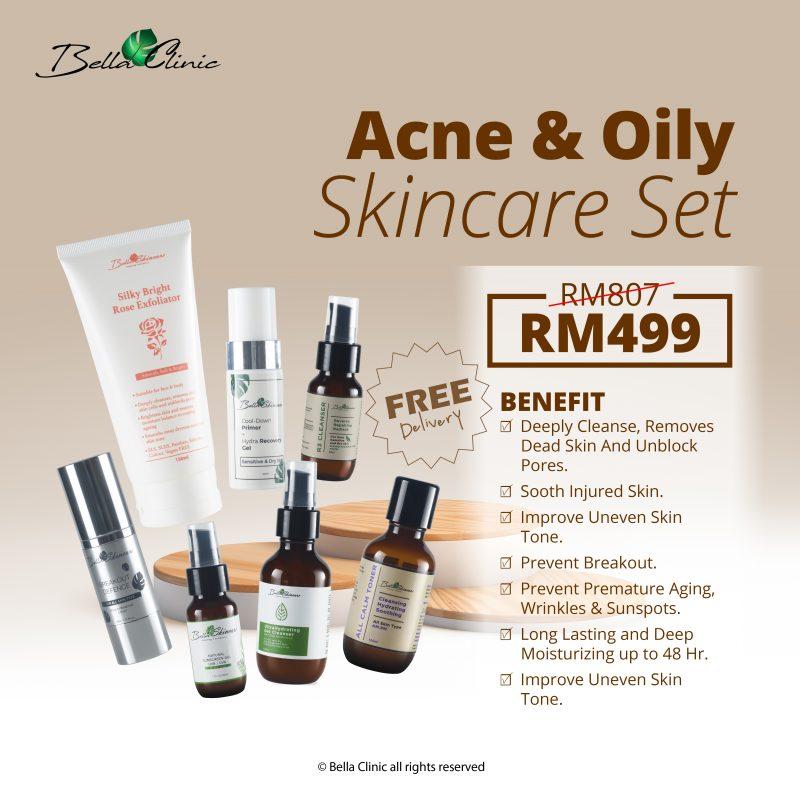 acne & oily skincare set